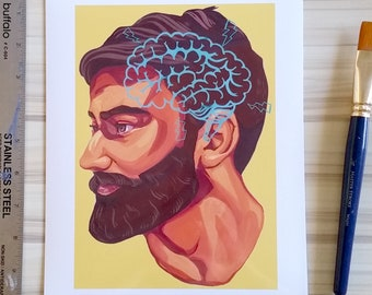 "Beards 8x10"" Print"