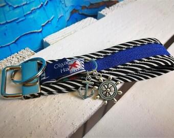 Keychain, handbags pendant sylt made of fabric with anchor and lighthouse-handmade/handmade-gift Birthday