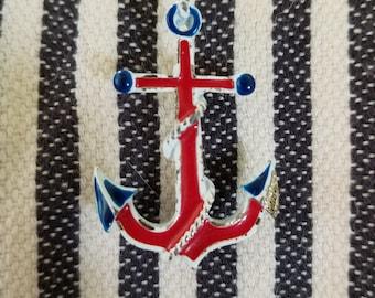 Vintage Anchor Brooch