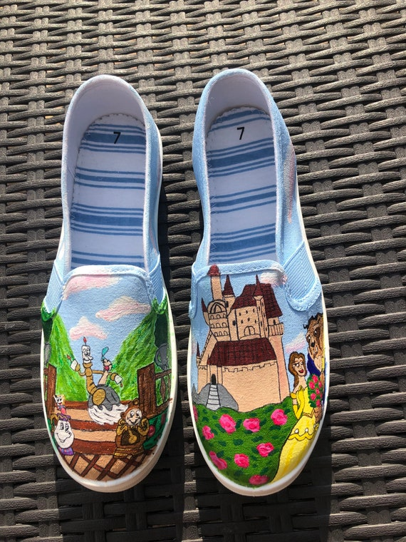 Beauty and the Beast Shoes | Etsy