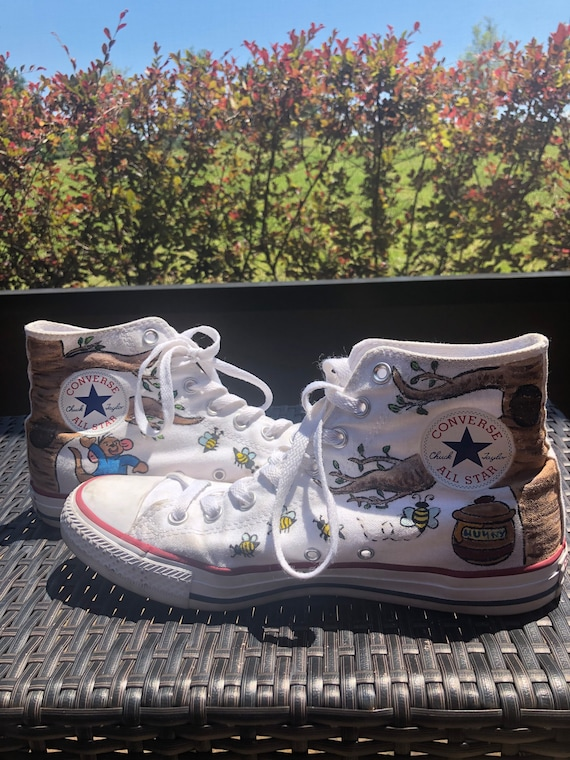Winnie the Pooh Hand Painted Converse