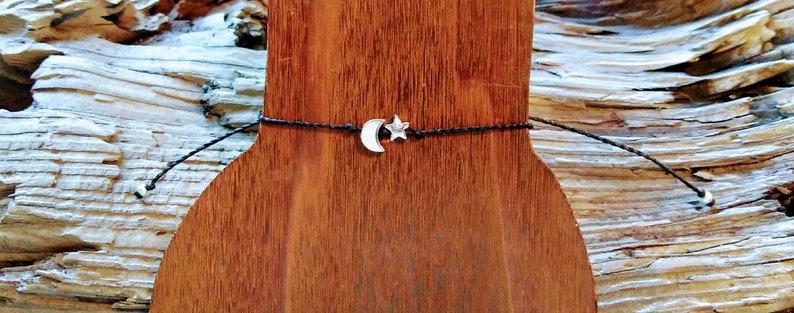 Antiqued Silver Celestial Minimalist Charm Bracelet Minimalist Jewelry Wrist Sizes 5 12-7 Sliding Knot Clasp Friendship