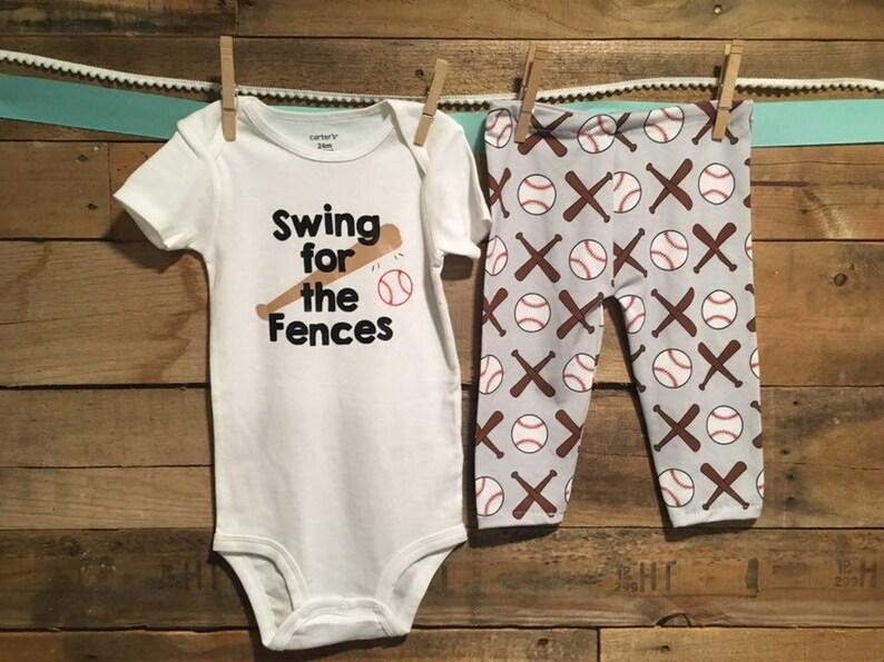 leggings top Swing for the Fences Baseball