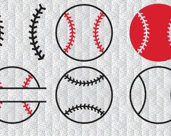 Baseball cut svg files, SVG print and cut baseball monogram, baseball balls svg cutting files dxf baseball