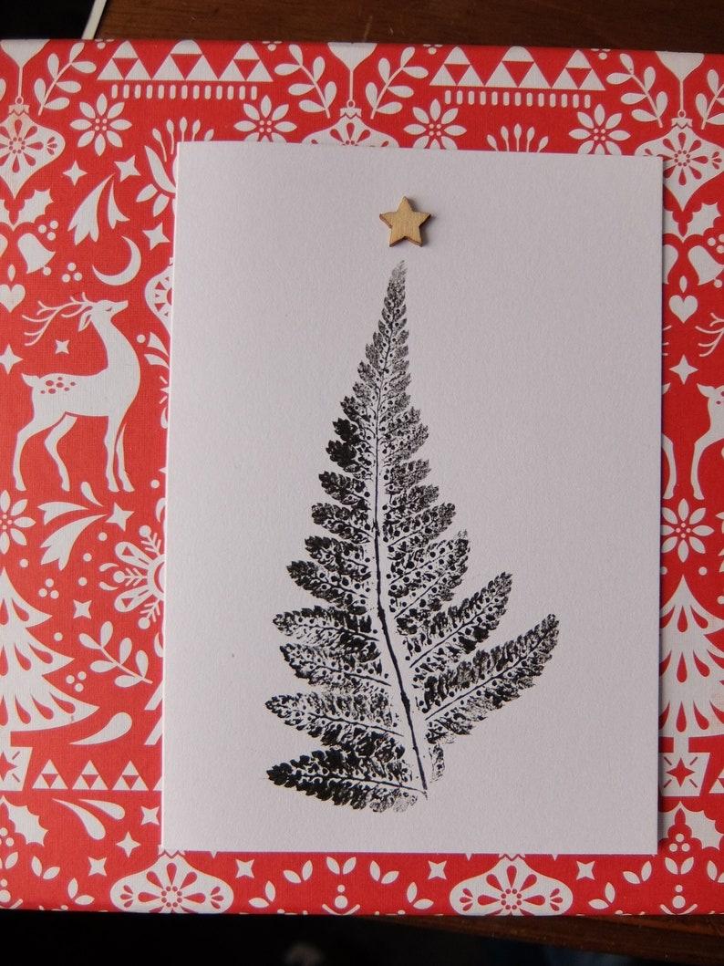 Christmas Tree Fern Card 2 Etsy