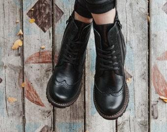 Womens brogue boots | Etsy