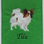 Papillon, Realistic, + name, individually embroidered cover for EU pet card, vaccination passport cover, vaccination dog, large color selection