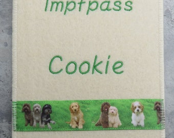 Pug Vaccination Passport Cover With Photo Border Desired Etsy