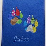 Patchwork Dog Paws, Paws, + name, individually embroidered cover for EU pet card, vaccination passport cover, vaccination dog, color selection