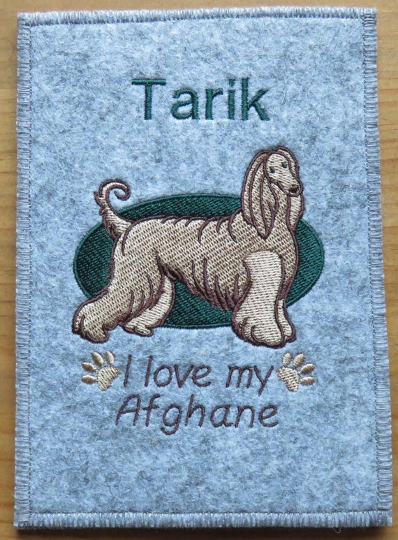 I Love My Afghane Greyhound Individually Embroidered Cover For The Eu Pet Card Vaccination Passport Cover Vaccination Dog Large Color Selection