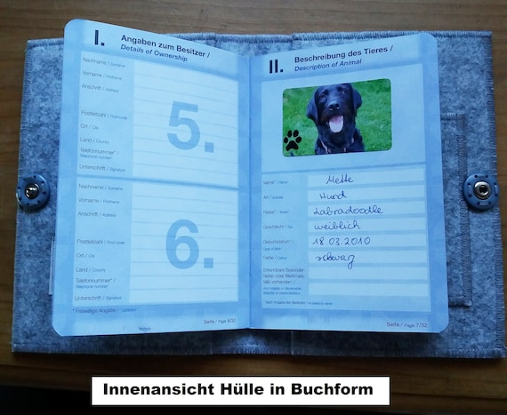 Vaccination Passport Cover Patchwork Dog Paws Name Individually Embroidered Vaccination Pass Dog As Pocket Sleeve Or In Book Form Large Color