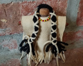 Native American Indian Clothespin Doll