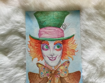 Watercolor Mad Hatter