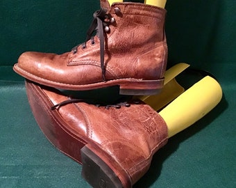 721e25c5a79d96 Mens Original Wolverine 1000 Mile Antique Leather Boots Size 7D W40580