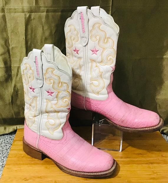 Stetson Pink + Cream Women's Cowboy Size US 5.5 Bo