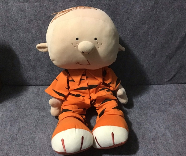 "Large PJ Black Orange Stripe 24"" Stanley Disney Playhouse Stuffed Plush Toy"