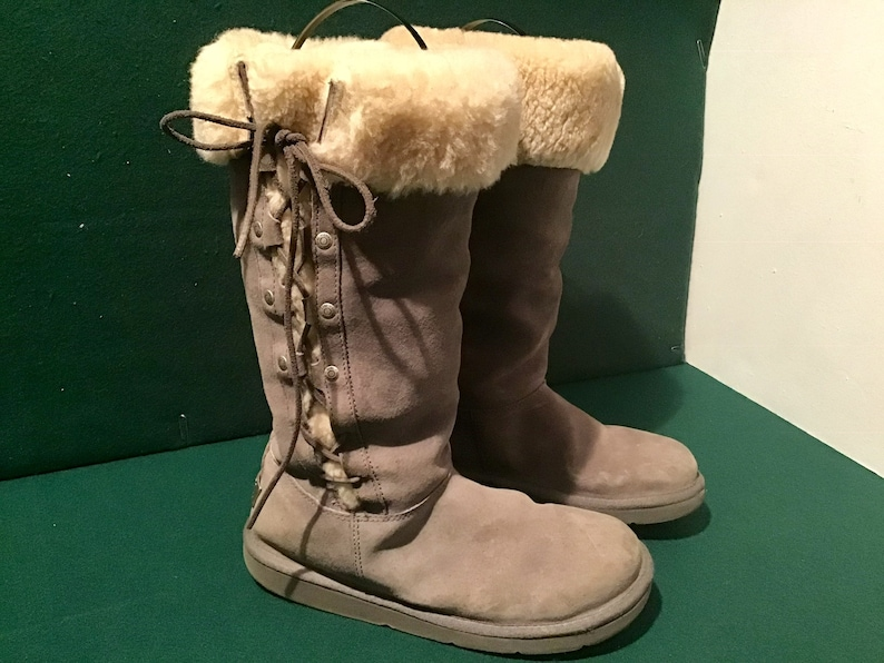 4c81d9dd0ba UGG Upside Australia Sheepskin Charcoal Gray Boots S/N 5163 EU38/US8/UK6.5