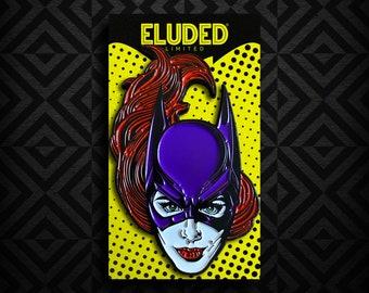 Batgirl Purple 2.5 Inch Enamel Pin