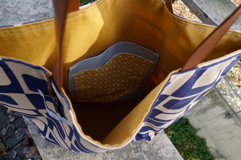 large tote bag women tote bag blue tote bag