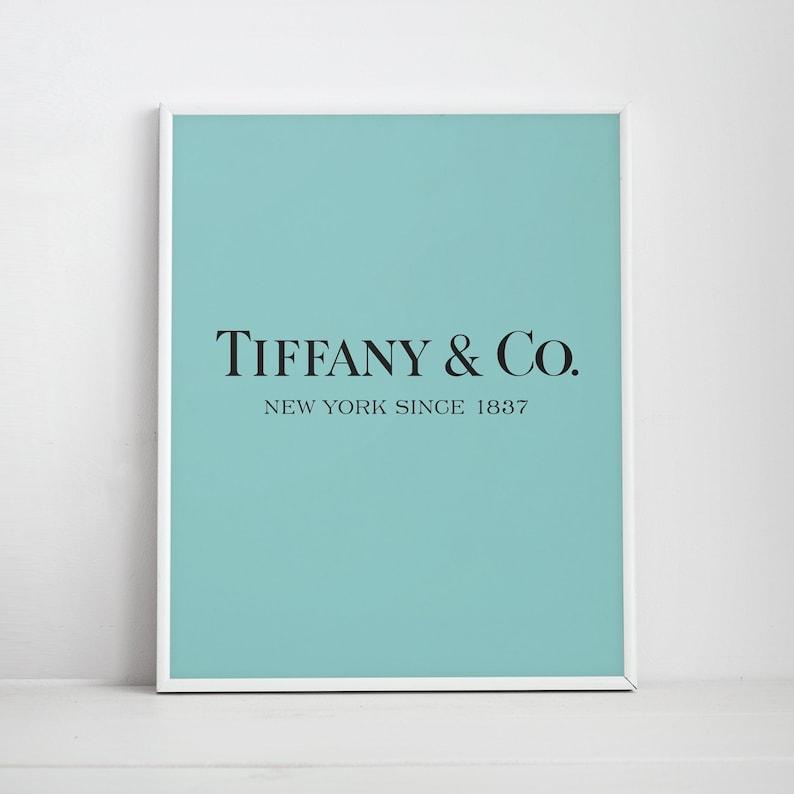 a75fc77e33a6 Tiffany and Co Poster Tiffany   Co logo Tiffany Blue Print