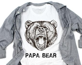 f0875b2f9222 Papa Bear Shirt - Papa Bear - Family Bear Shirt - Papa Bear T Shirt - Fathers  Day Shirt - Papa Bear Tee - Gifts For Dad - Gifts For Him - Hu