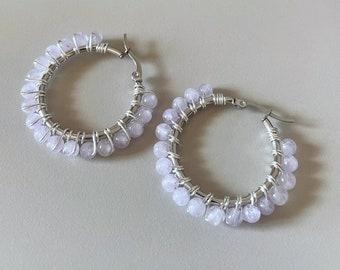 SUMMER Lavender amethyst earrings