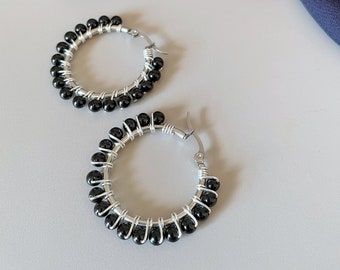 WINTER Black onyx earrings