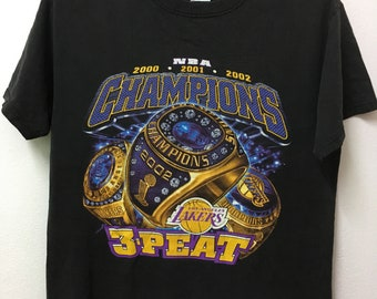 953557ce4a9a Vintage LA Los Angeles Lakers /NBA 3-Peat /Champions /T-shirt/M 20.5