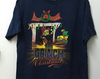 0d24c2a0f24 Vintage90s Dr Seuss 1997 The Grinch  Cartoon Comic  T-shirt Xl 23