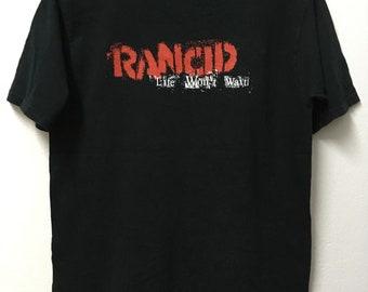 8985770d740 Vintage90s Rancid American Punk /Life Won't Wait /Tour Promo /Punk Rock Pop/ T-shirt/M 20