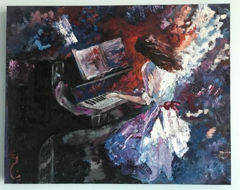 Copy of Willem Haenraets's Girl Playing Piano