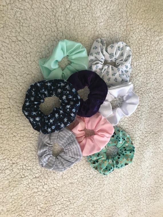 handmade scrunchies-hair tie-hair elastic-fabric hair tie-pony  0f103ad2cec