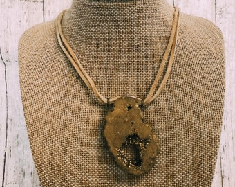 Yellow Rock Necklace