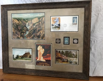 Yellowstone National Park Art Collage
