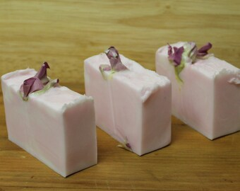 Rose Geranium Soap- Organic-Vegetable Base