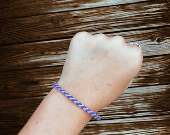 Mini Purple and Light Purple Stripe Bracelet
