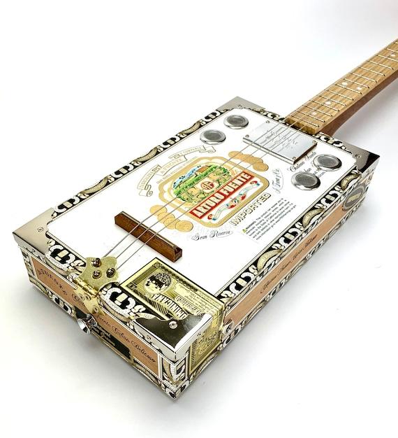 Cigar Box Guitar Arturo Fuente 3 String Electro Acoustic Volume Flatpup Pick Up