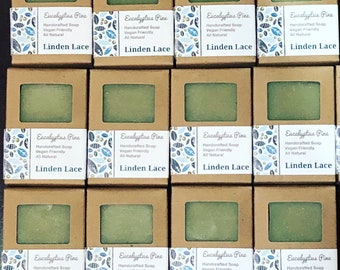 EUCALYPTUS PINE | 100% Natural and Vegan Handcrafted Soap | Palm-Free Soap 5.5oz - 6oz