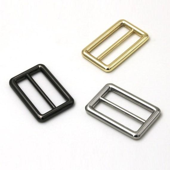 2pcs Strap Slide Buckle Adjustable Slider Buckle 1.5 inch inner size