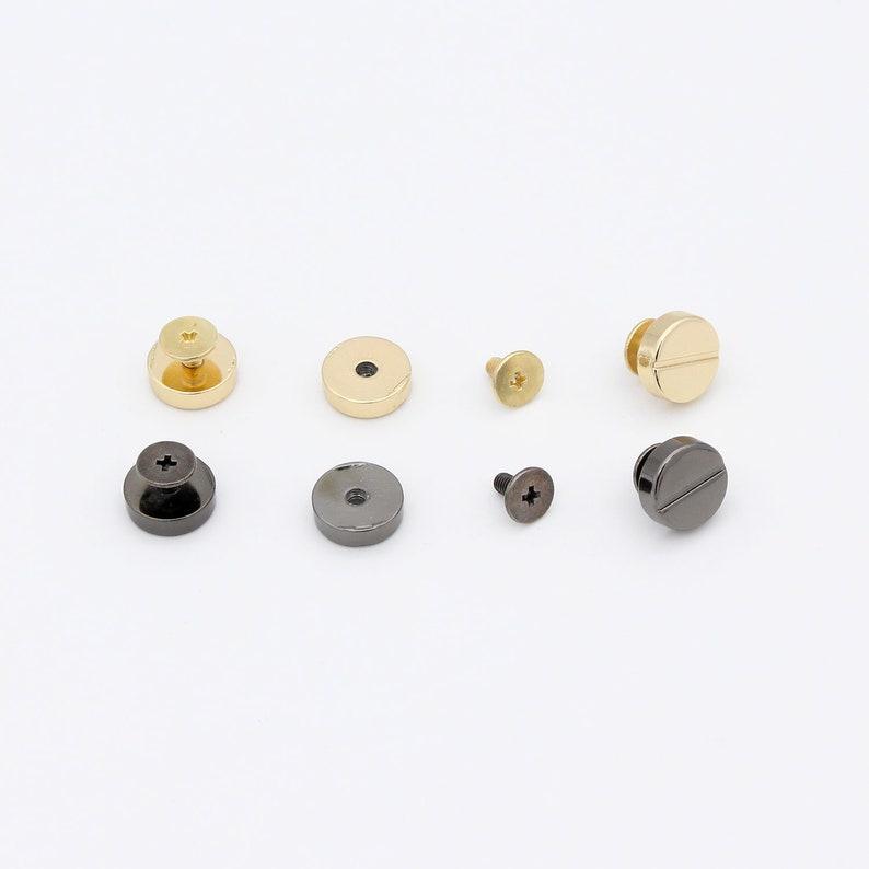10set 12mm Gunmetal Screw rivets screw studs Chicago screw stud Purse feet screws Screw back stud