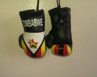 ZIMBABWE MINI BOXING GLOVE REAR VIEW MIRROR OF YOUR CAR BRAND NEW