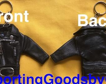 Mini Motorbike Leather Jacket Keychain, Mini Jacket Keychain, Mini Leather Biker Jacket Keychain, Leather Jacket Keychain, Jacket Keychain