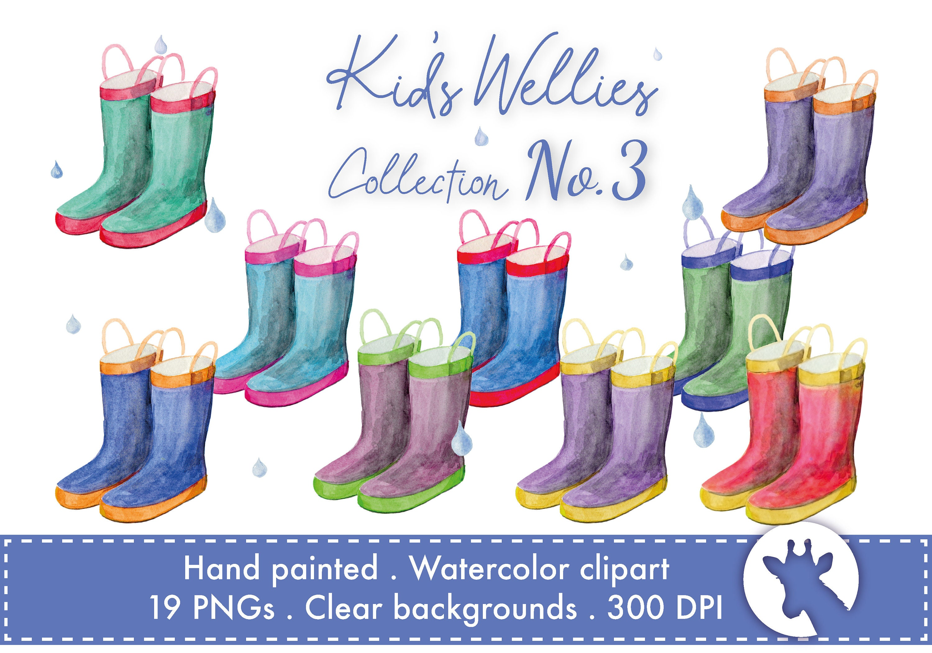 Wellies Personalised Framed Welly Boot Family Print Wellingtons Rain boot