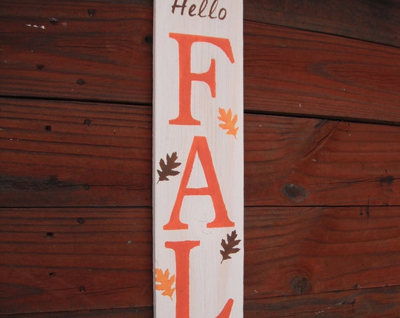 """Wood Door Sign WELCOME  Porch Vertical Weathered Farmhouse Handmade 33/"""""""