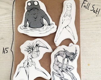 Cryptid Series - Full Set - Stickers