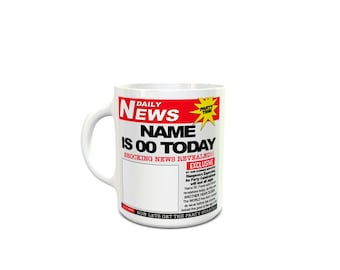 Daily News Theme, funny, Humour, Fun, Joke Ceramic Mug