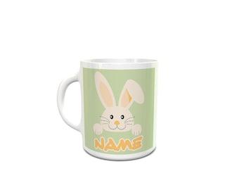 Bunny With Name, Love, Easter, Kids, Fun Ceramic Mug