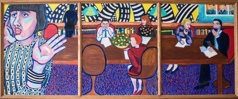 07b121ff4a8b47 Boardroom. Original acrylic painting on canvas.