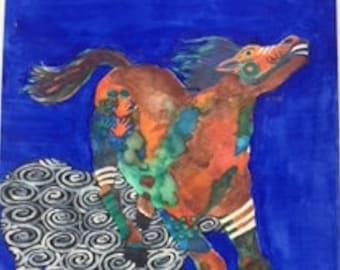Native American Art Shadow Horse