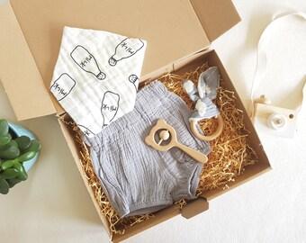 Baby Bib Scandinavian Baby Gift New Baby Gift Baby Rattle Baby Teething Ring Newborn Boy Gift New Mum Gift Baby Boy Gift Set